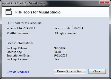 如何破解PHP tools for Visual Studio?